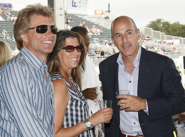 At the Hampton Classic: Jon Bon Jovi, his wife Dorothea Hurley and Matt Lauer