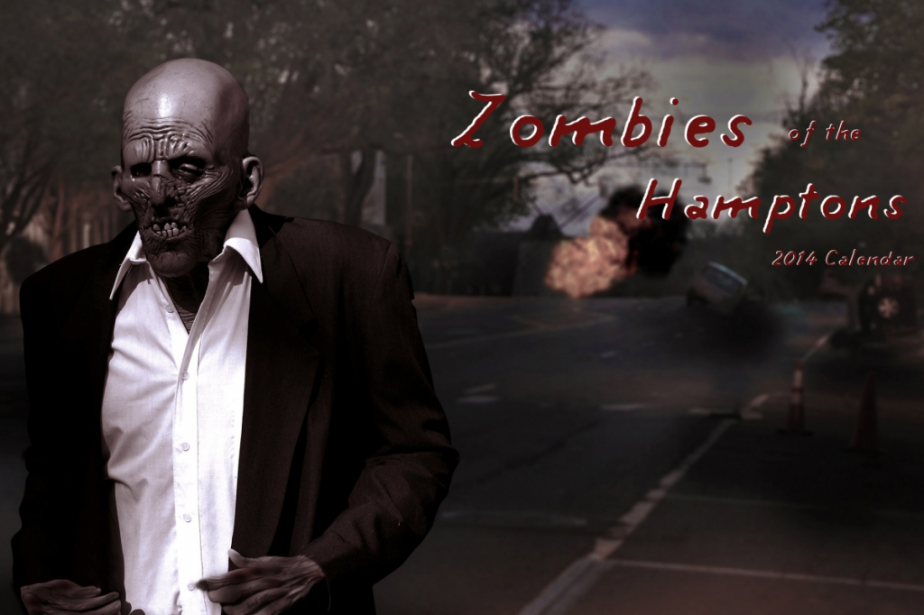 Zombies of the Hamptons 2014 Calendar by Dell Cullum