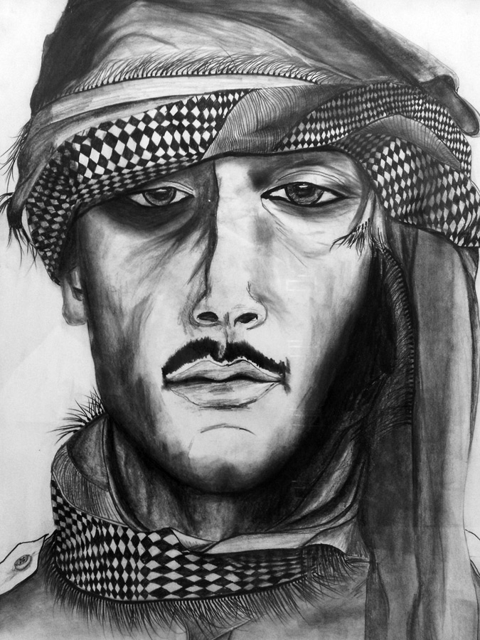 Jules Roy drawing of Mujahideen in Afghanistan