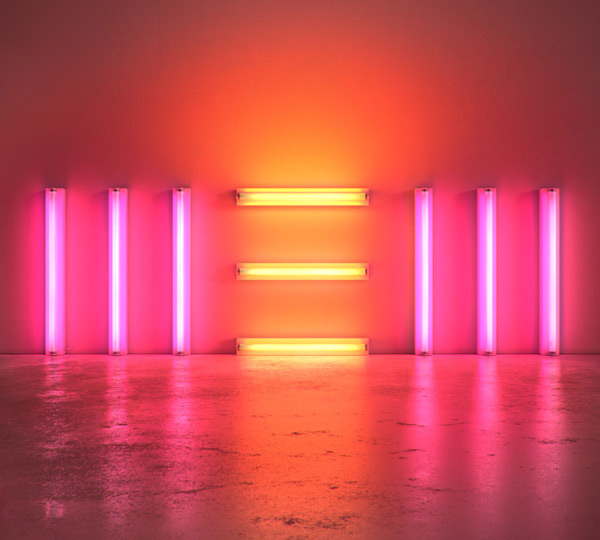 "Dan Flavin-inspired cover art from Paul McCartney's ""New"" album"