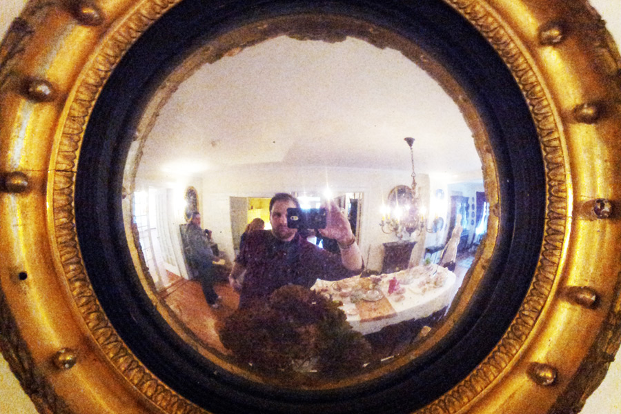 Fisheye mirror in Rogers Mansion