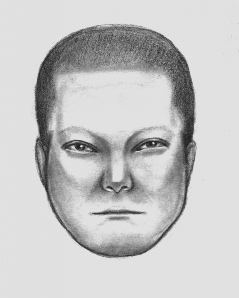 Police sketch of Sag Harbor robbery suspect.