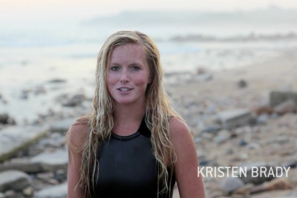 "Kristin Brady interviewed in ""Montauk."""