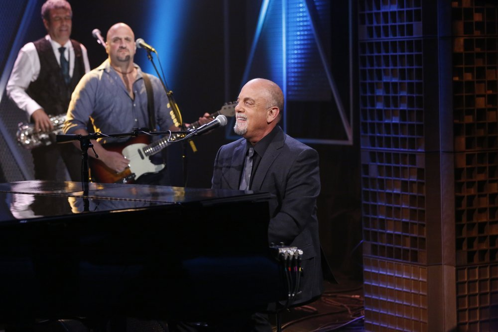 "Musical guest Billy Joel performs ""You May Be Right"" on March 20. Photo credit: Lloyd Bishop/NBC"