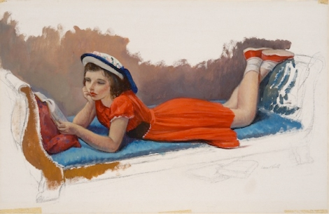 Leon Kroll, Child Reading Parrish Art Museum