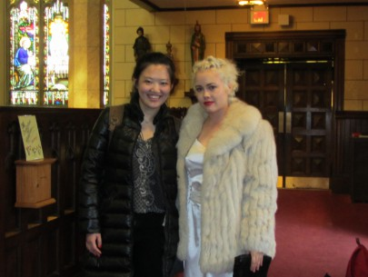 Yiyi Han and Rebecca Kiembock at Basilica Parish of the Sacred Hearts of Jesus and Mary