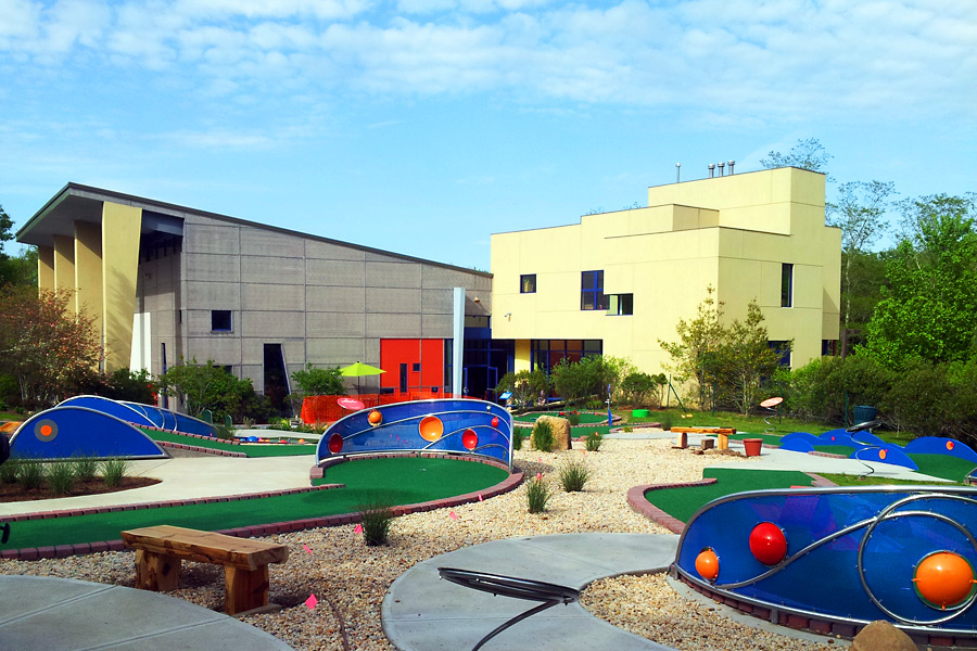 the new miniature golf course at CMEE!