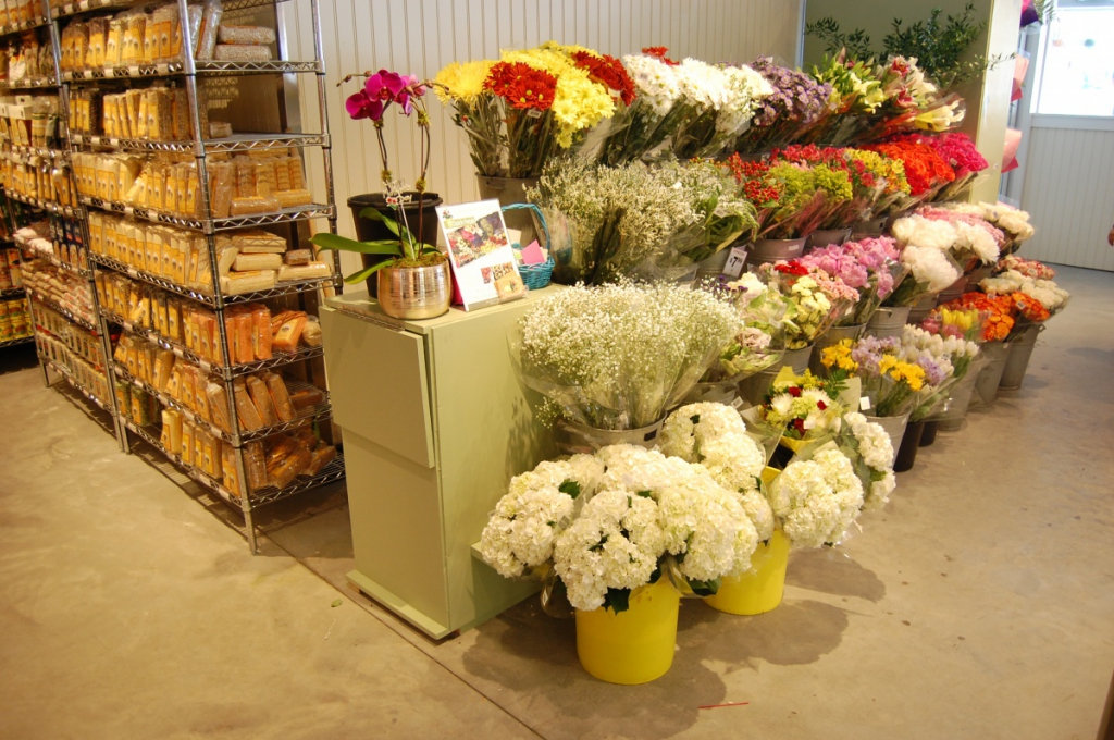 Fresh flowers at Citarella