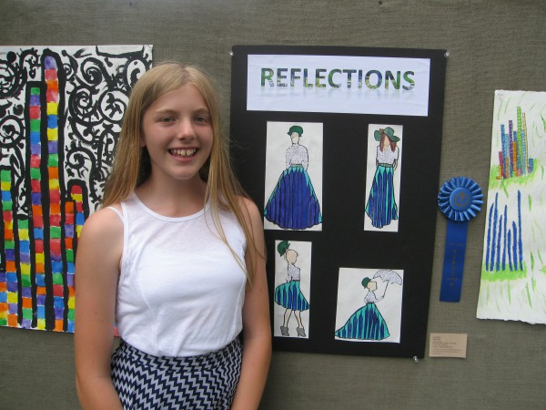 Erin Decker, 7th Grade, Montauk Public School, winner Fashion Illustration