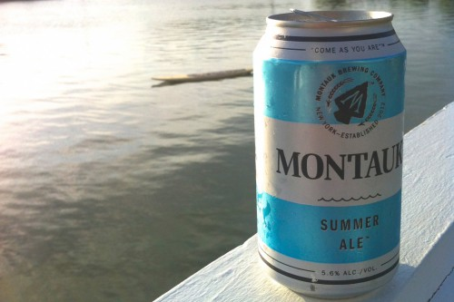 Montauk Brewing Company summer ale is best drank near the water