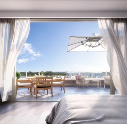 An artist's rendering of a Harbor's Edge penthouse.