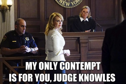 Revenge Season 4 Episode17 Loss Meme Stevie Grayson Contempt of court