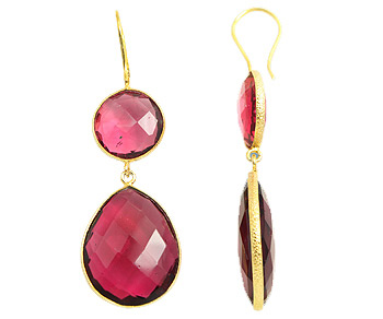 Gemstone Double Drop Earrings from The Bride's Maids Shop