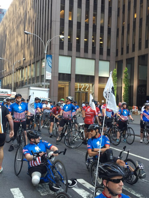 Wounded U.S. service members and veterans and wounded Israeli veterans rode together in the WWP Soldier Ride.