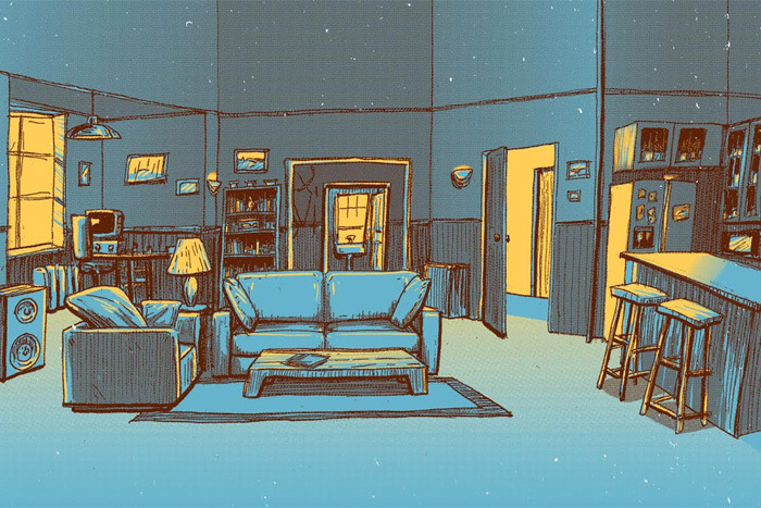 """Barry Blankenship """"Jerry's Apartment"""" Print"""