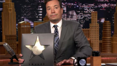 Jimmy Fallon pays tribute to the late, great David Bowie