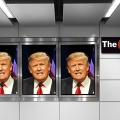 Hamptons Subway Trump posters