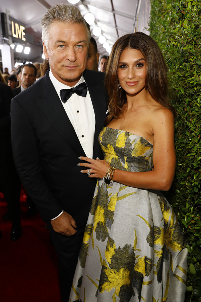 Alec and Hilaria Baldwin at the 2017 Emmys