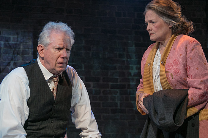 "David Manis and Carolyn Popp in ""Death of a Salesman"""