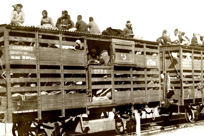"Cattle car in ""Intent to Destroy"""