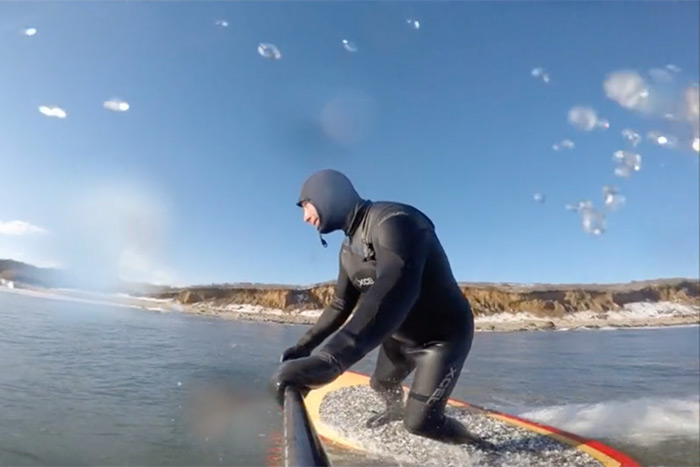 Paddleview: Winter SUP Surfing in Montauk