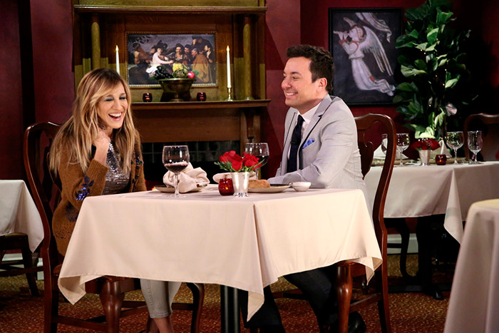 Sarah Jessica Parker and Jimmy Fallon play Mad Lib Theater