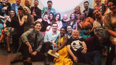 "Jimmy Buffett and the cast of ""Escape to Margaritaville,' Photo: http://escapetomargaritavillemusical.com"