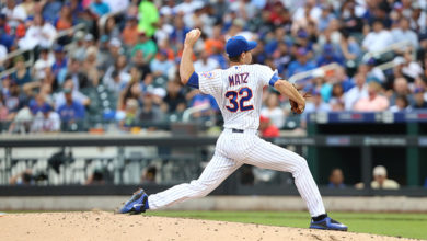 Steven Matz pitches for the NY Mets