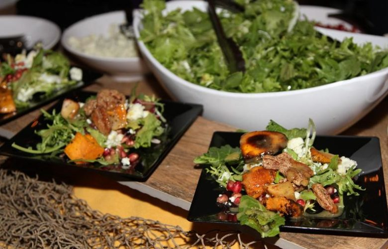 St. Charles Hospital served a delicious sweet potato and pear salad with maple vinaigrette