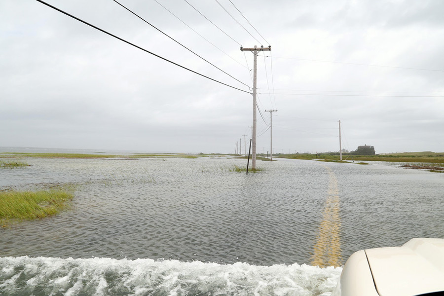 Dune Road flooded in East Quogue Cully/EEFAS Jeff Cully