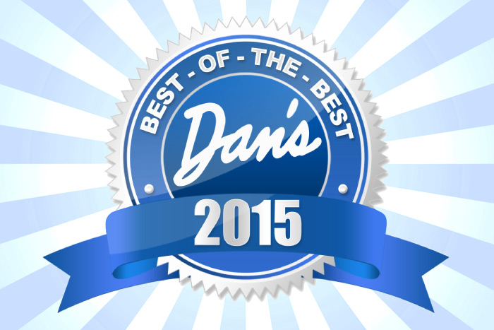 Dan's Best of the Best 2015 logo with burst background