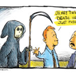 Death cartoon by Mickey Paraskevas