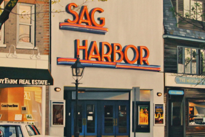 January 6, 2017 Dan's Papers cover art (detail) of Sag harbor Cinema by Curt Hoppe