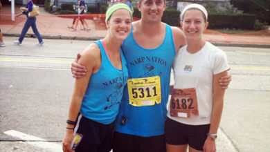 Corrine Gandolfi, Michael Unterstein and Kelly Laffey at The Great Cow Harbor 10K