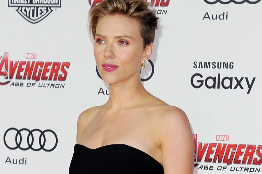 Scarlett Johansson at the Avengers: Age of Ultron premiere