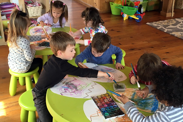 Group art activities at Sunflower Patch Southampton