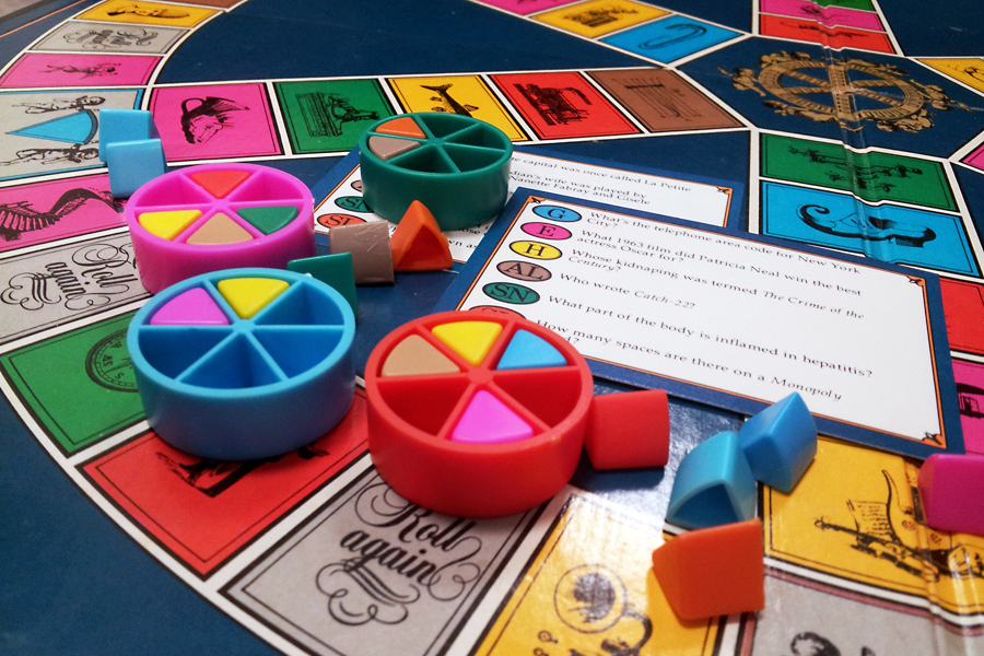 The original and out-of-date Trivial Pursuit, ca. 1981