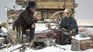 "Tommy Lee Jones and Hilary Swank in ""The Homesman,"" screening at the 2014 Hamptons International Film Festival."