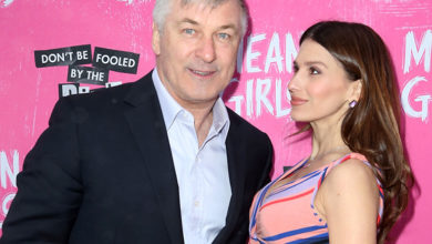 "Alec and Hilaria Baldwin at ""Mean Girls"" opening night, April 8, 2018"