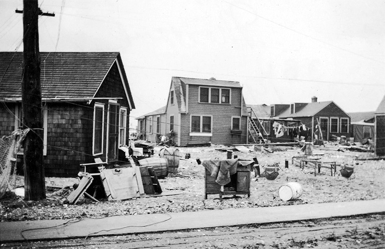 Wreckage of Fort Pond Fishing Village, Montauk, after the Hurricane of 1938