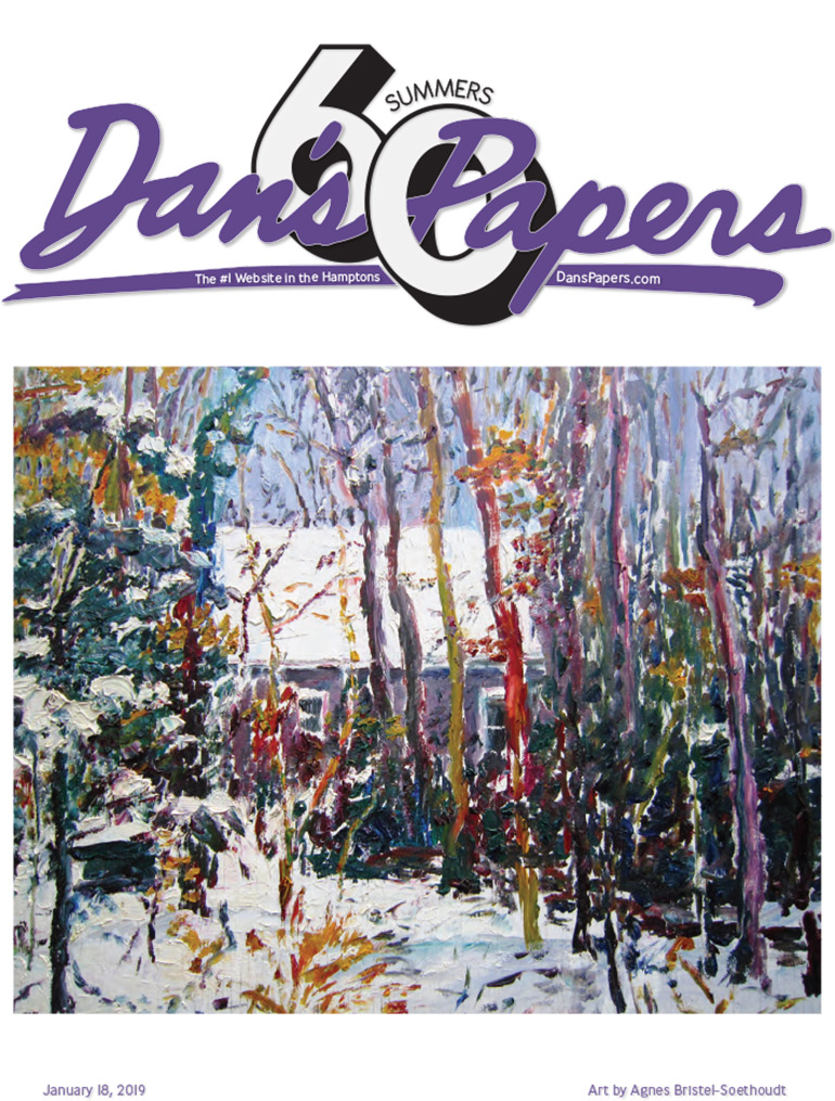 January 18, 2019 Dan's Papers cover art by Agnes Bristel
