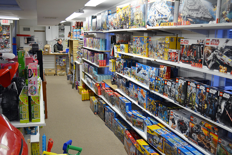 Upstairs at Stevenson's Toys