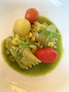 Sweet Corn Agnolotti at Topping Rose House, Photo: Genevieve Horsburgh