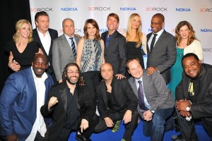 Alec Baldwin and the 30 Rock cast on Thursday, photo: Theo Wargo/NBC