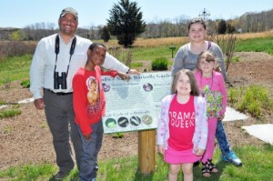 """Frank Quevedo, Executive Director of SoFo (CMEE's neighbor across the street) gave the children a guided nature walk in SoFo's """"backyard"""""""