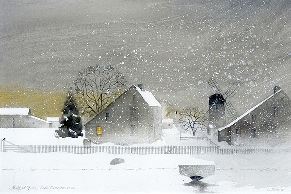 Claus Hoie, Mulford Farm and Home Sweet Home, 2002, watercolor