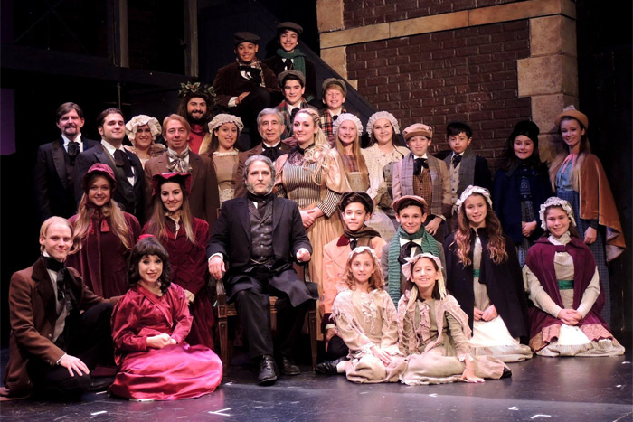 "The cast of Theatre Three's ""A Christmas Carol"""