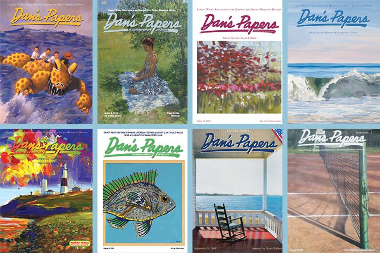 Dan's Papers covers by Mickey Paraskevas, Marc Dalessio, Ty Stroudsburg, Casey Chalem Anderson, Peter Max, Mike Stanko, Daniel Pollera, Joseph Reboli