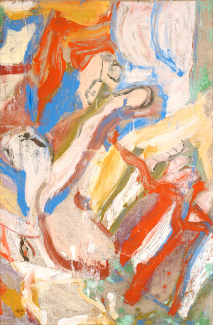 "Willem de Kooning, Untitled, c.1970-72, oil on paper mounted on canvas, 55 ¾"" x 36 ¼"" Gift of Ron Delsener, Courtesy Guild Hall"