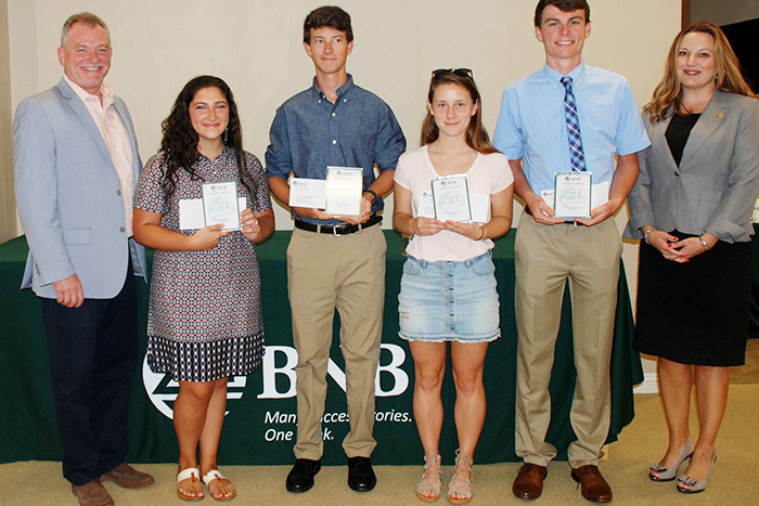 East End students accept their BNB scholarships in Riverhead